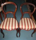 Lovely Set of 4 Blackwood Balloon Back Chairs C1880 Lovely Set of 4 Blackwood Balloon Back Chairs C1880