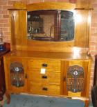 Federation Maple Sideboard with leadlight Panels Federation Maple Sideboard with leadlight Panels