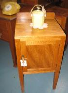 Oak single door bedside Oak single door bedside