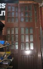 Set Of Large Fire Station Doors 12 ft high (5 and a half doors) Set Of Large Fire Station Doors 12 ft high (5 and a half doors)